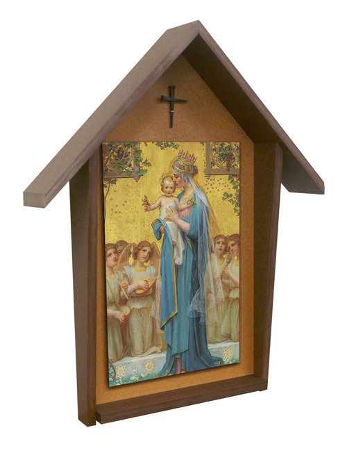 Madonna and Child by Enric M. Vidal Deluxe Poly Wood Outdoor Shrine