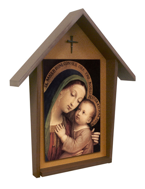 Our Lady of Good Counsel Deluxe Poly Wood Outdoor Shrine