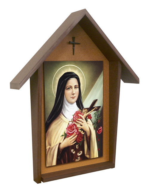 St. Therese Deluxe Poly Wood Outdoor Shrine