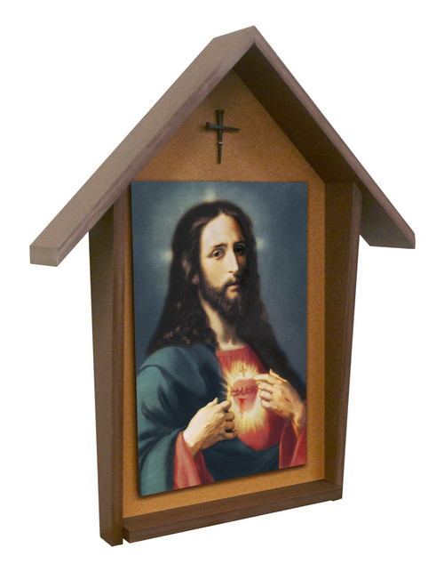 Sacred Heart Deluxe Poly Wood Outdoor Shrine