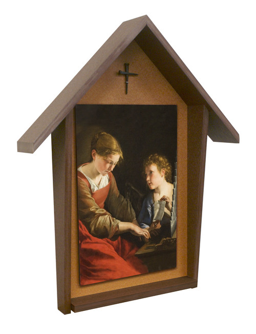 St. Cecilia Deluxe Poly Wood Outdoor Shrine