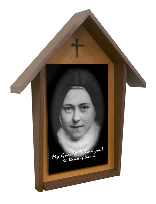 St. Therese (Nun) Deluxe Poly Wood Outdoor Shrine