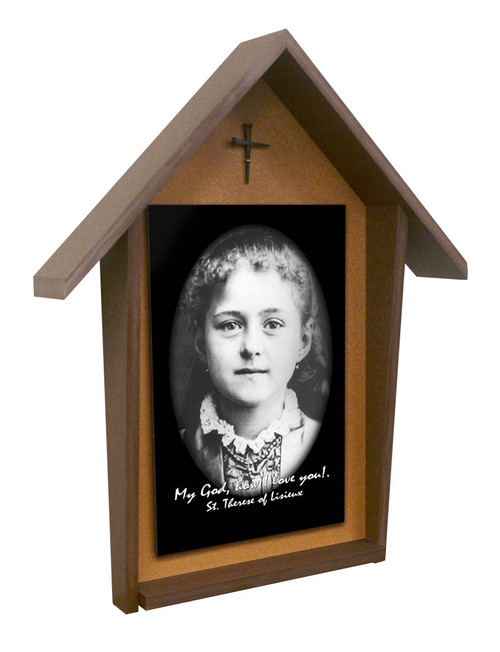 St. Therese (Child) Deluxe Poly Wood Outdoor Shrine