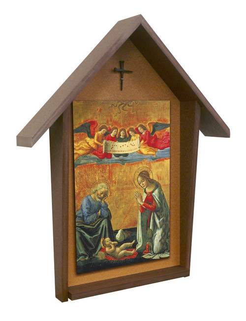Nativity by Ghirlandaio Deluxe Poly Wood Outdoor Shrine