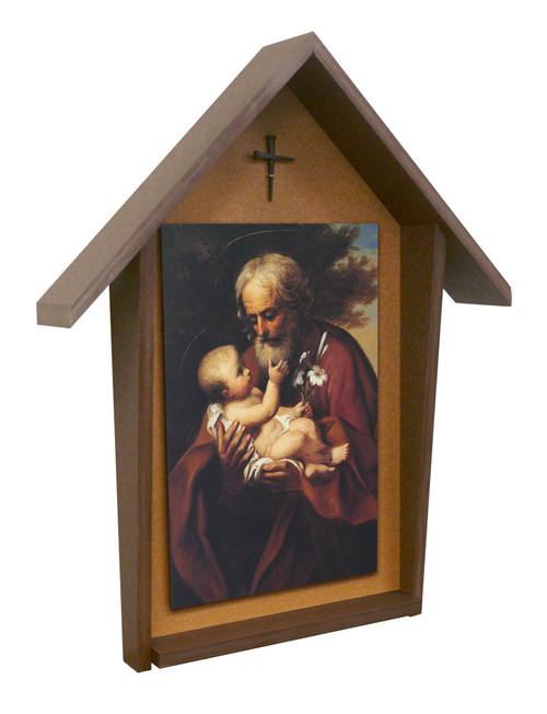 St. Joseph (Older) Deluxe Poly Wood Outdoor Shrine
