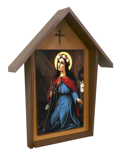 St. Philomena Deluxe Poly Wood Outdoor Shrine