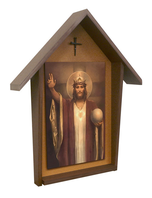 Christ the King by Chambers Deluxe Poly Wood Outdoor Shrine