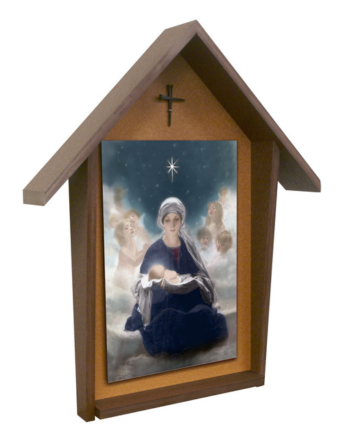 Star of Bethlehem Deluxe Poly Wood Outdoor Shrine