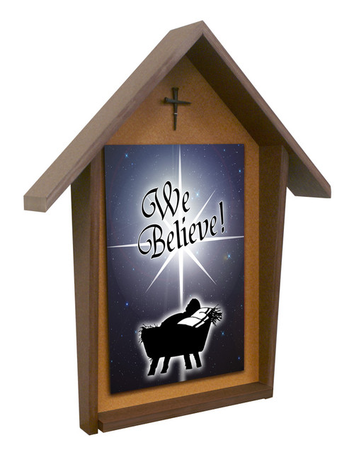We Believe Deluxe Poly Wood Outdoor Shrine