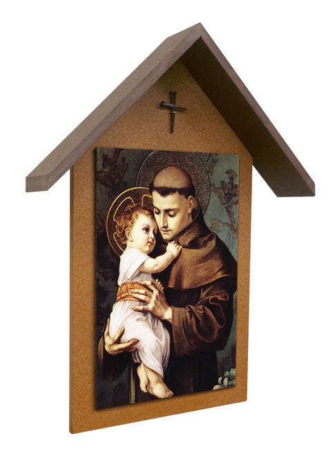 St. Anthony Simple Poly Wood Outdoor Shrine
