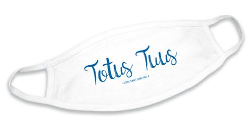 """""""Totus Tuus""""  White Cotton Face Mask"""