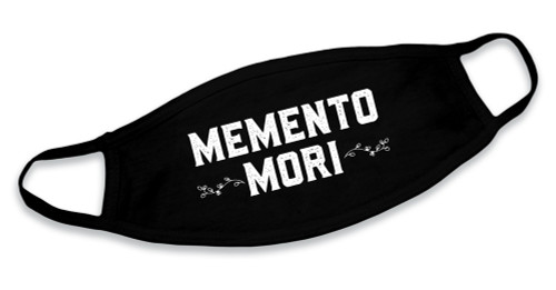 """Memento Mori"" Black Cotton Face Mask"