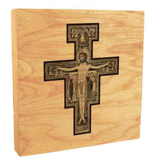 San Damiano Rustic Box Art