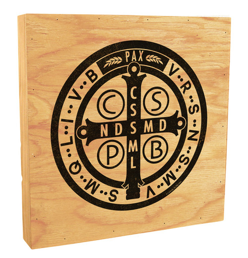 Benedictine Medal Rustic Box Art