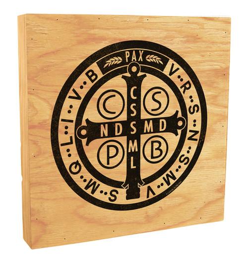 Benedictine Medal Rustic Box Art