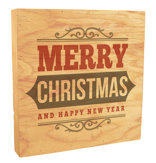 """Merry Christmas And A Happy Near Year"" Rustic Box Art"