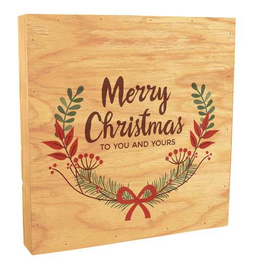 """Merry Christmas to you and Yours"" Rustic Box Art"