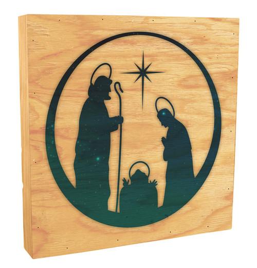Vintage Nativity Rustic Box Art