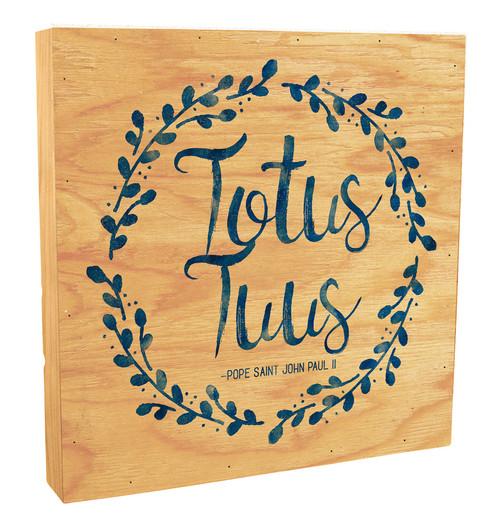 """Totus Tuus"" Rustic Box Art"