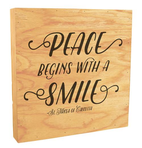 """""""Peace Begins"""" Rustic Box Art"""