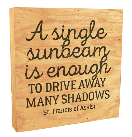 """A Single Sunbeam"" Rustic Box Art"