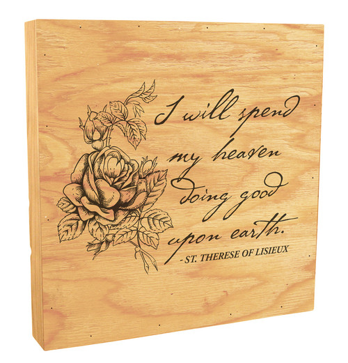 """I Will Spend My Heaven"" Rustic Box Art"