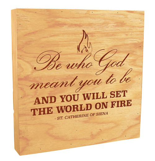 """""""Be Who God Meant"""" Rustic Box Art"""
