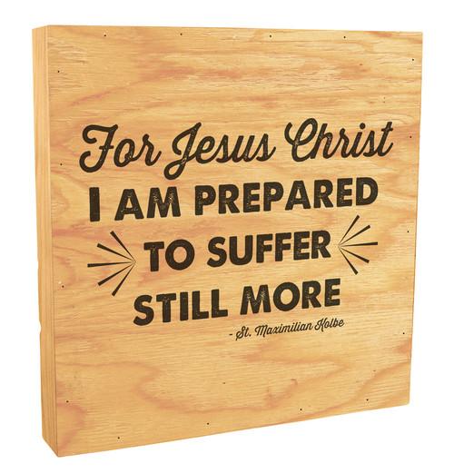 """For Jesus Christ"" Rustic Box Art"