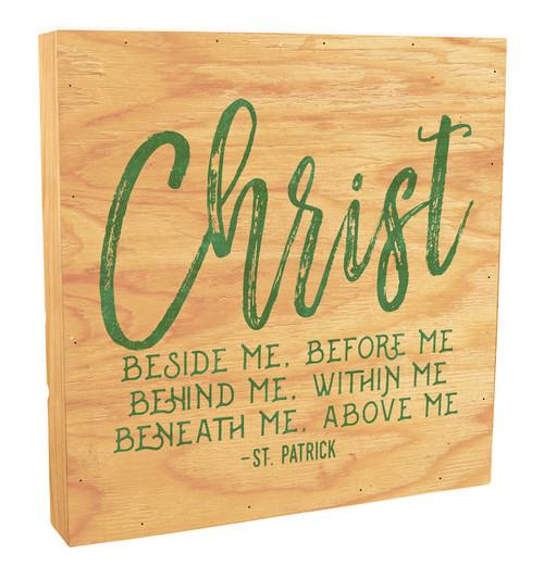 """Christ Before Me"" Rustic Box Art"