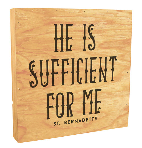 """""""He Is Sufficient For Me"""" Rustic Box Art"""