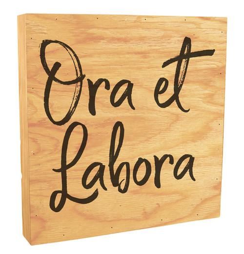 """Ora et Labora"" Rustic Box Art"