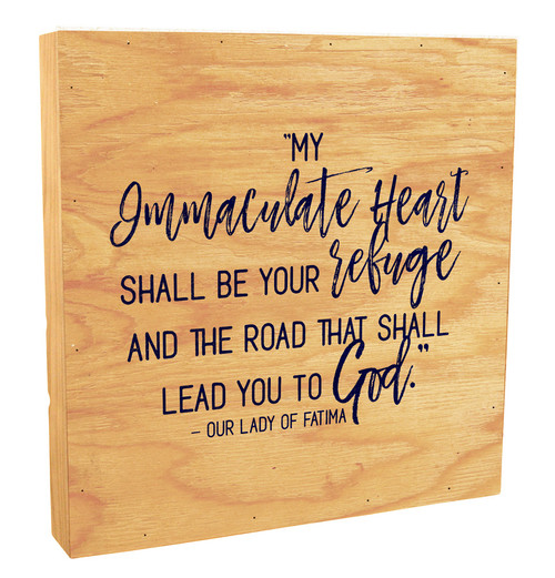 """My Immaculate Heart"" Rustic Box Art"