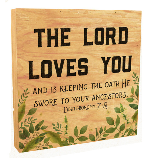 """""""The Lord Loves You"""" Rustic Box Art"""