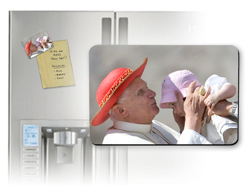 Pope Benedict Kissing Infant Magnet