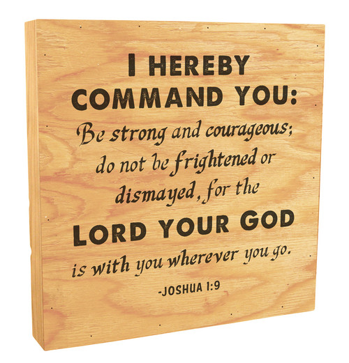 """""""The Lord Your God Is With You"""" Rustic Box Art"""
