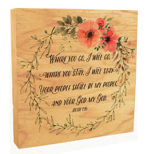 """""""Where You Go, I will Go"""" Rustic Box Art"""