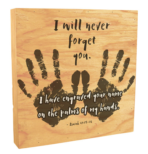 """""""I Will Never Forget You"""" Rustic Box Art"""