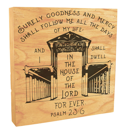 """""""I Shall Dwell in the House of the Lord"""" Rustic Box Art"""