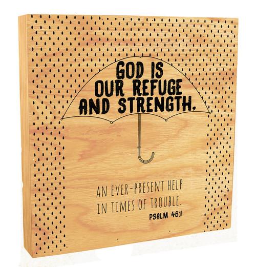"""God Is Our Refuge"" Rustic Box Art"