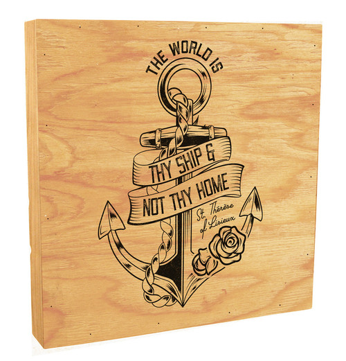 """The World Is Thy Ship"" Rustic Box Art"