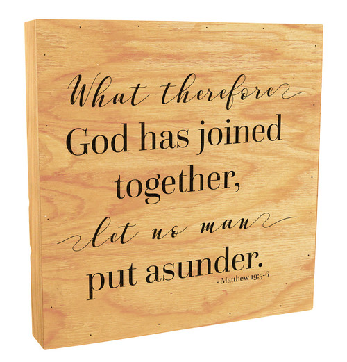 """""""What God Has Joined"""" Rustic Box Art"""