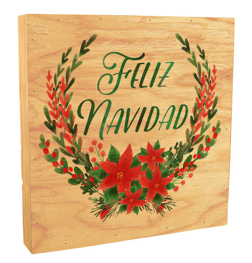 """""""Feliz Navidad"""" Rustic Box Art"""
