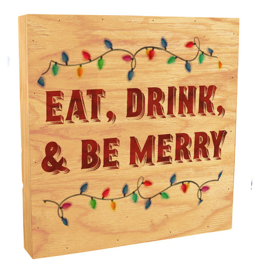 """Eat, Drink, and Be Merry"" Rustic Box Art"