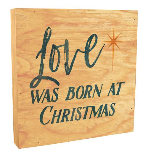 Love Was Born Rustic Box Art