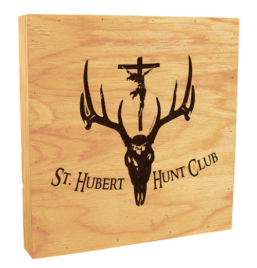 St. Hubert Hunt Club Symbol Rustic Box Art