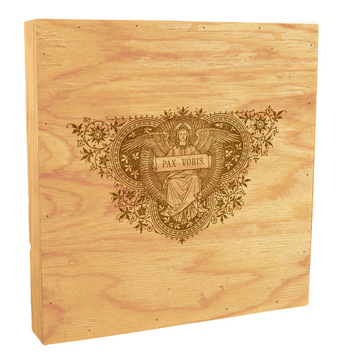 Pax Vobis Angel Woodcut Rustic Box Art