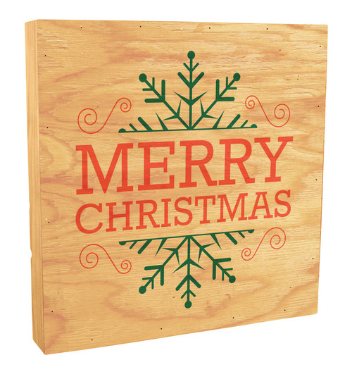 "Snowflake ""Merry Christmas"" Rustic Box Art"