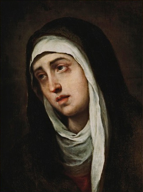 LIMITED EDITION Dolorosa by Murillo Canvas in Assorted Frames