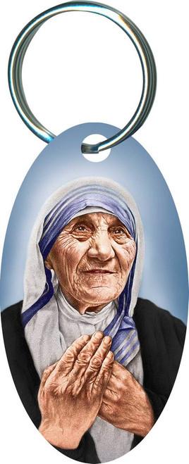 Overstock St. Teresa of Calcutta Oval Keychain