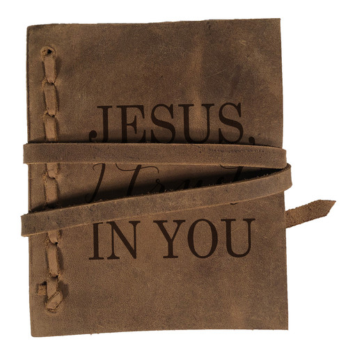 """Jesus, I Trust In You"" Rustic Leather Journal"